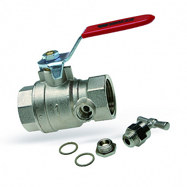 Ball valve with drain KHE